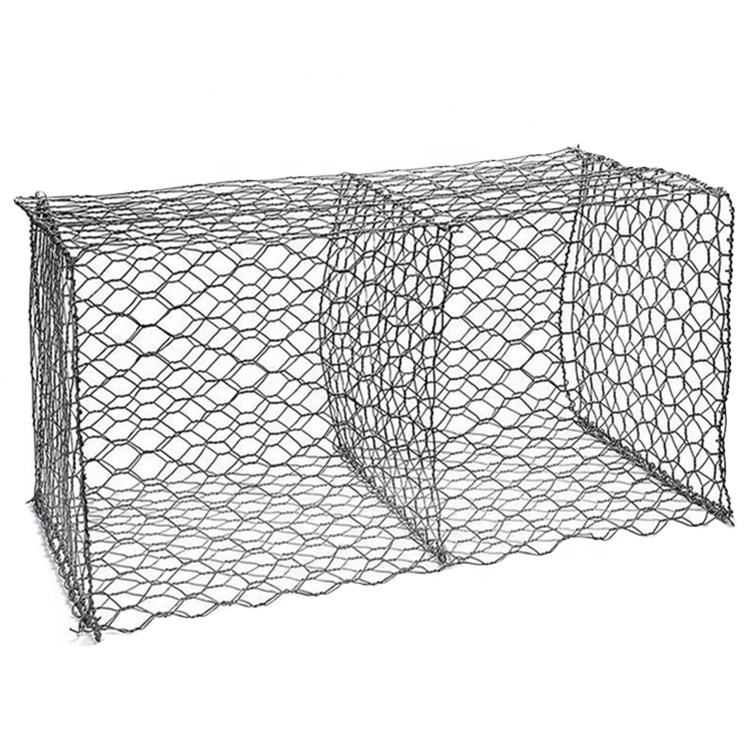 Woven Mesh Hexagonal Hole Shape Gabion Basket / earth retaining gabion
