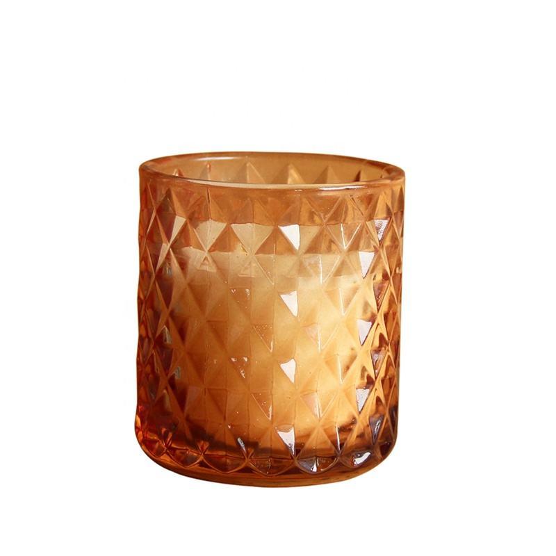 OEM de alta qualidade vela de vidro cor da primavera frasco de vidro frasco de vela personalizado com caixa