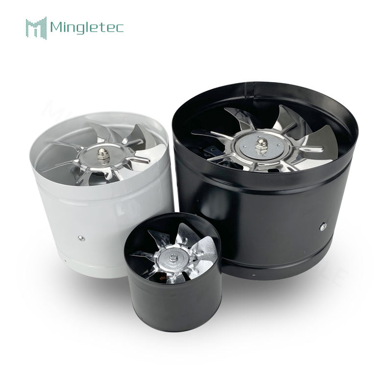 High Speed Booster Air Cooling Ventilator Metal Pipe Vent Inline Duct Blower Exhaust Intake Fan
