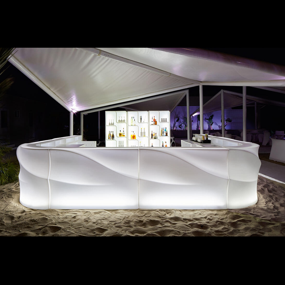 Konter Bar Penerangan Led Remote Control Portabel, Warna Rgb Berubah Led Pesta Klub Mebel Mobile Bar Pantai