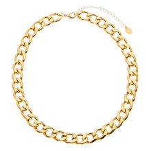 Stainless Steel Curb Chain Link Necklace Choker Gold Cuban Link Chain Necklace