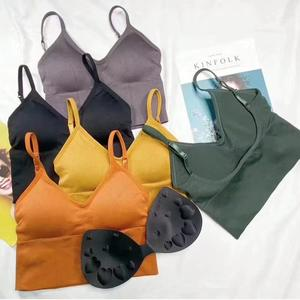 Manufacturers direct sales of the most popular U back chest sports Tube Top Wrapped Chest Girl Lady Vest Seamless Bra