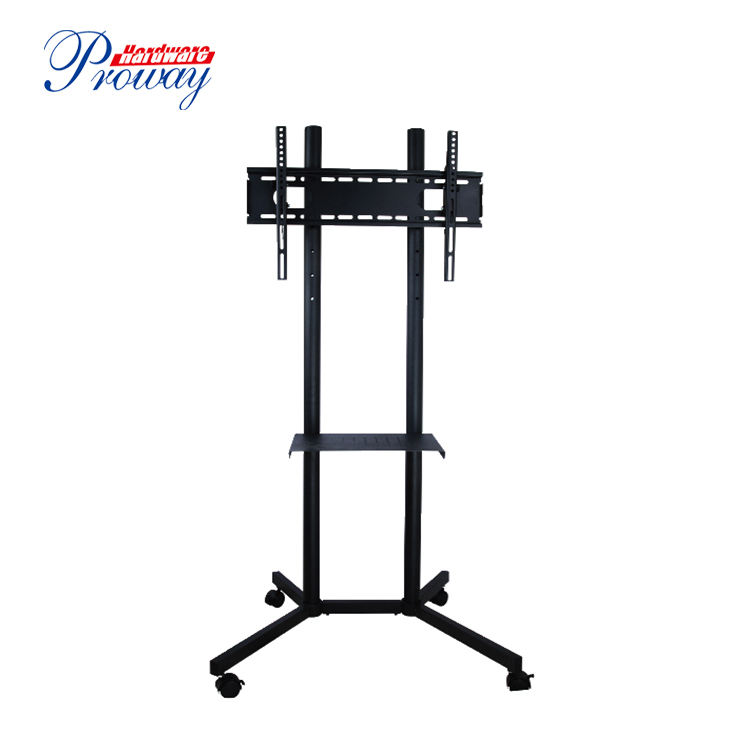 High Quality Floor Wheels Mobile Metal LCD TV Cart Iron TV Mount Stands With Bracket