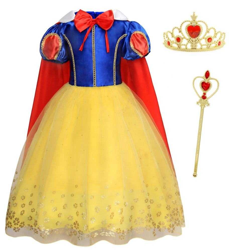 Hot Sell Festival Halloween Costume Kids Clothing Princess Cosplay Girl Snow White Party Fancy Dress Costume