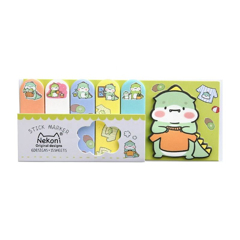 Kawaii Color Index Combined Sticky Note Pad