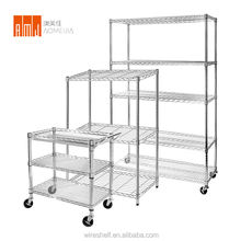 Multifunction folding chrome metal display closet maid wire shelving manufacturers  for industrial use