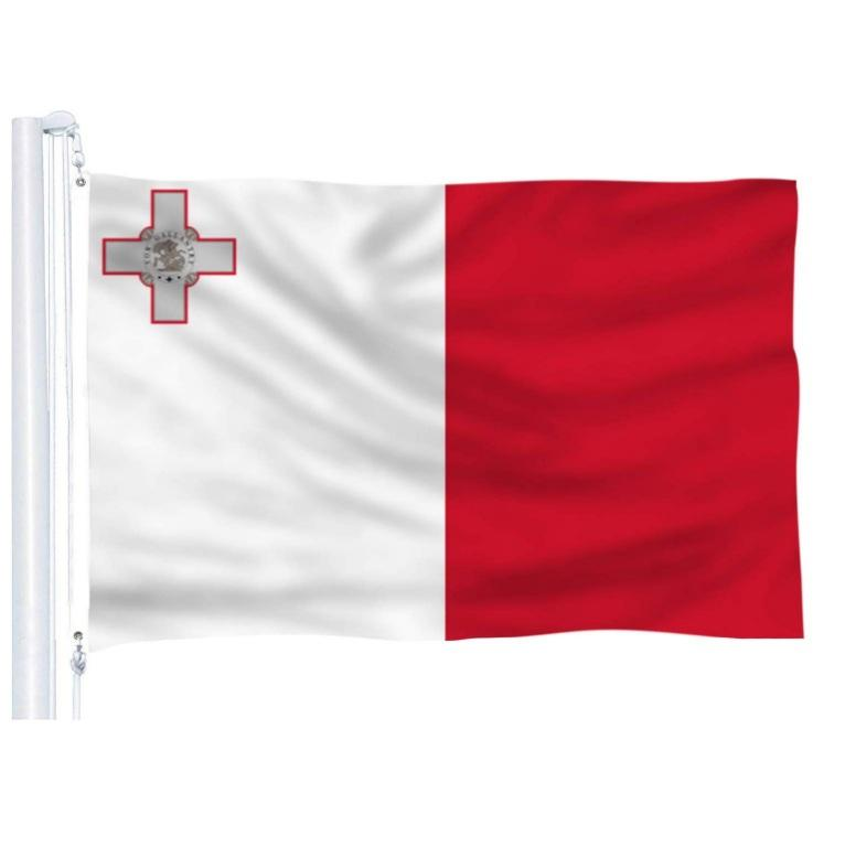 Malta Country National Flags 3x5 Ft Printing Polyester 90x150cm Flying Hanging MLT Malta Flag Banner