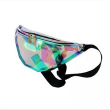 Amazon hot selling holographic PVC shining waterproof sport bum waist bag
