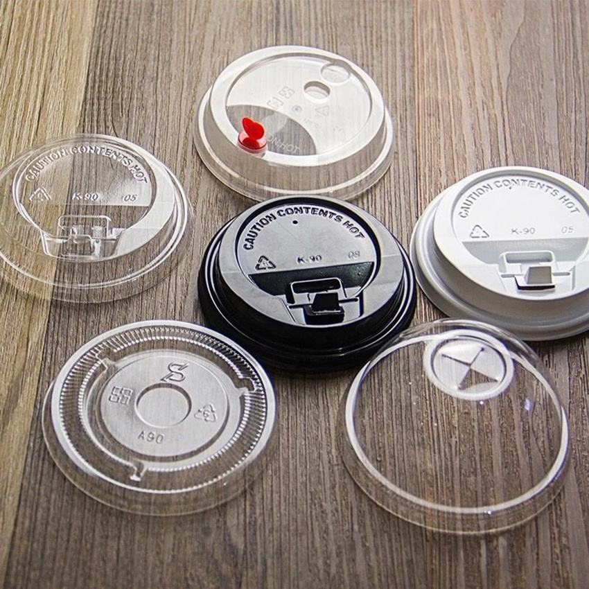 OEM disposable 73mm 75mm 80mm 85mm 90mm plastic pla ps pp material lid for coffee cup