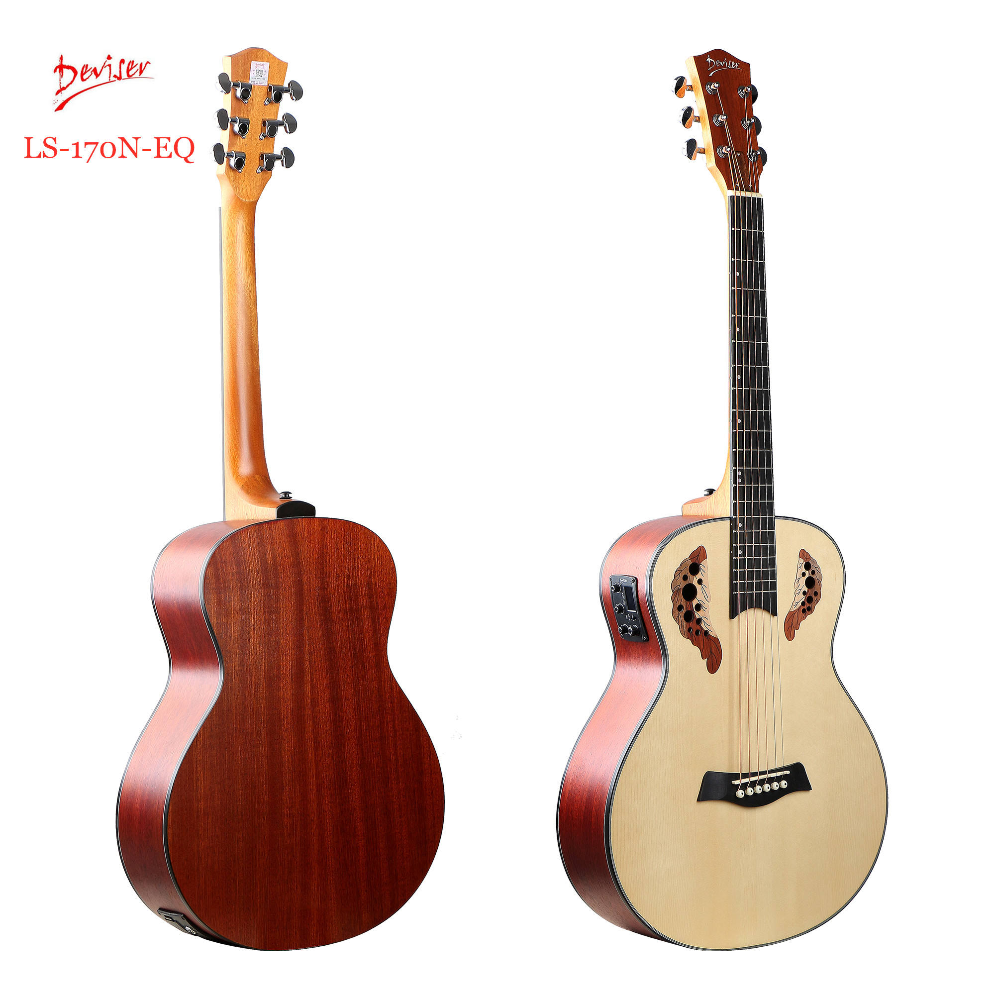 "36"" ovation musical instruments Semi Hollow electric acoustic guitars built in FREE pickup made in China"