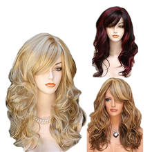 big wave long hair synthetic wig fashion lace wig for women girl ladies synthetic wigs