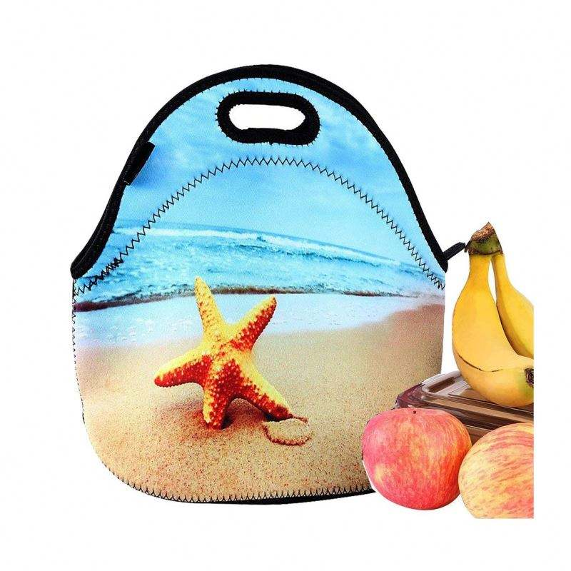 Neopreen Lunch Tas Door Magicolor Geïsoleerde Lunchbox Thermische Lunch Tote Bag