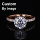 SuperSeptember GuangXi WuZhou Starsgem Fashion Custom 18K Gold Engagement Ring Diamond