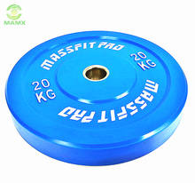20kg Gym Cross Fitness Professionalrubber coated steel Barbell Weight Plate
