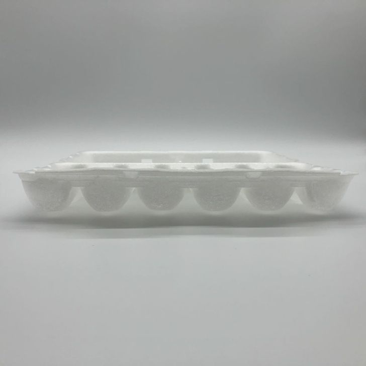 eco friendly Safety Food Grade Disposable Biodegradable PLA Foam egg Tray