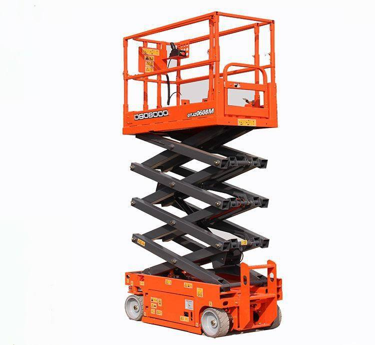 Electric hydraulic lifting maintenance of the lifting platform of the portable scissor lift