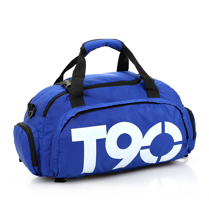T90 Wholesale custom logo t90 duffle backpack sports bags with shoe compartment travel gym bag handbag