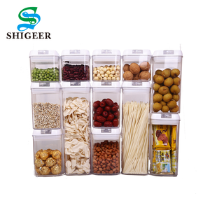 Good Quality Customized Eco-Friendly Airtight Plastic Dry Food Storage Containers 12pcs Set