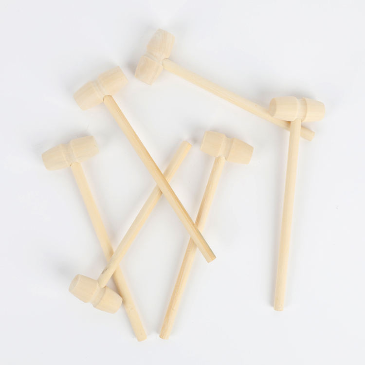 Hot Sale Mini Wooden Crab Mallets Wood Hammer For Planet Cake Lobster Seafood