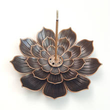 2020 Hot Sale Exquisite New Lotus Metal Incense Burner Portable Home Incense Stick Holder Burner