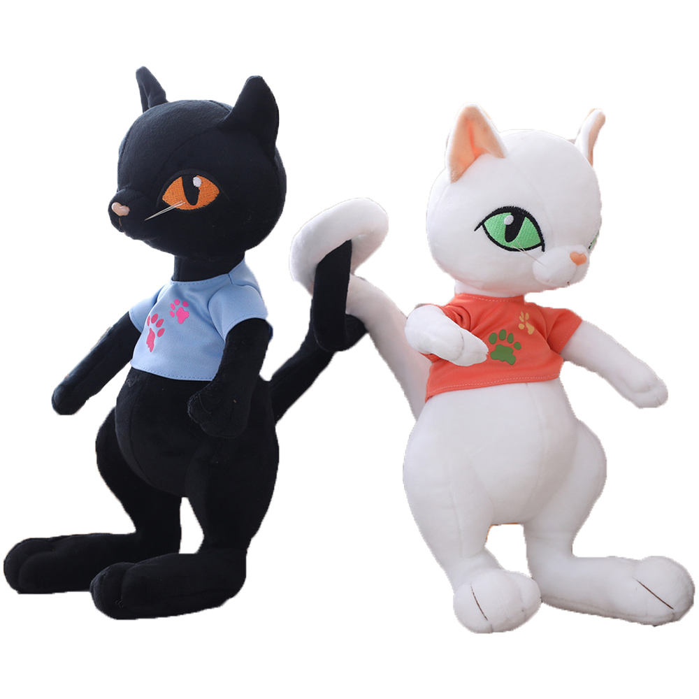 Customized creative plush toy long tail cat doll for kid Soft Animal Cartoon Toy
