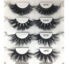 Cross Style 25mm Lash Handmade 3d Mink Eyelashes High Quality Hot Design Fluffy Lashes