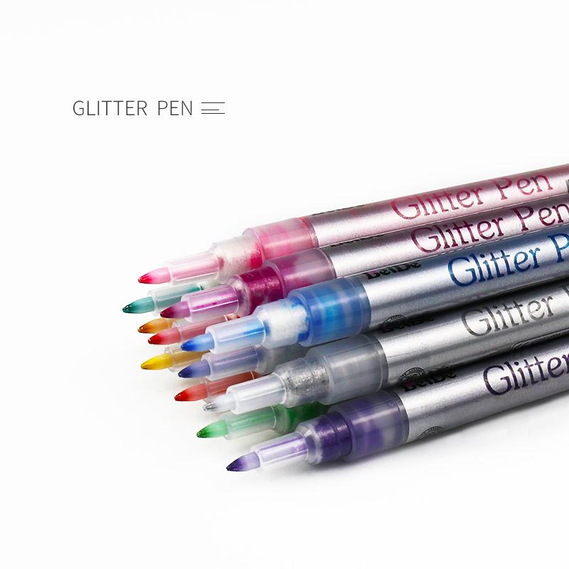 Scrittura liscia non-tossico di Lunga durata di scintillio penna di indicatore Per Il FAI DA TE disegno