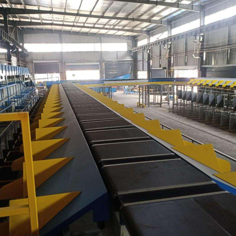 High Speed Motorized Roller Conveyor Sorting Systems for logistics express parcel automatic cross belt sorting equipment