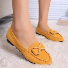female casual shoes ladies loafers flats wholesale leather flat shoes for women