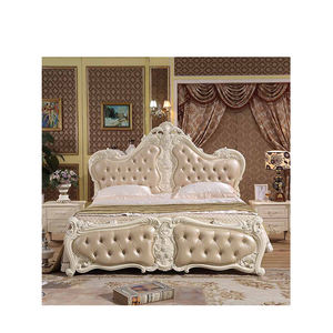 Modern Luxury Hotel Italian Royal Vintage White European Bed Bedroom Furniture Set