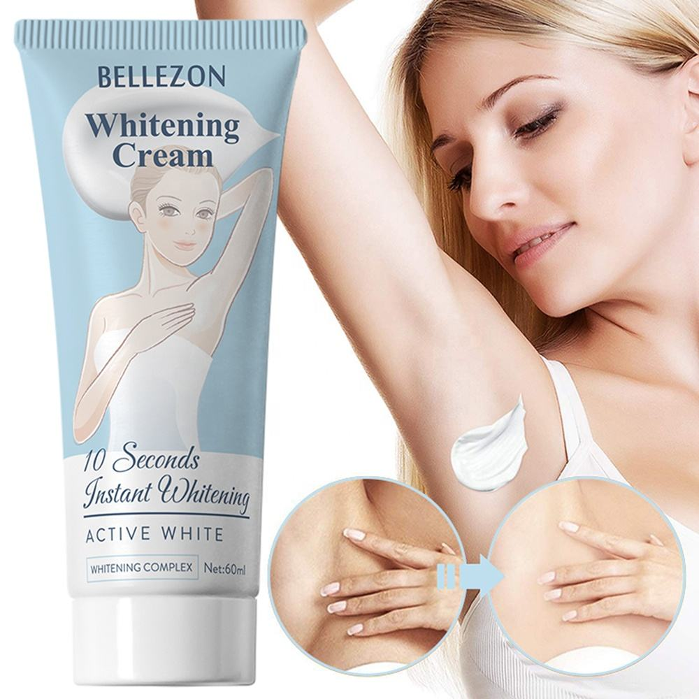 Private label best skin whitening face body cream for armpit legs knees black skin whitening cream
