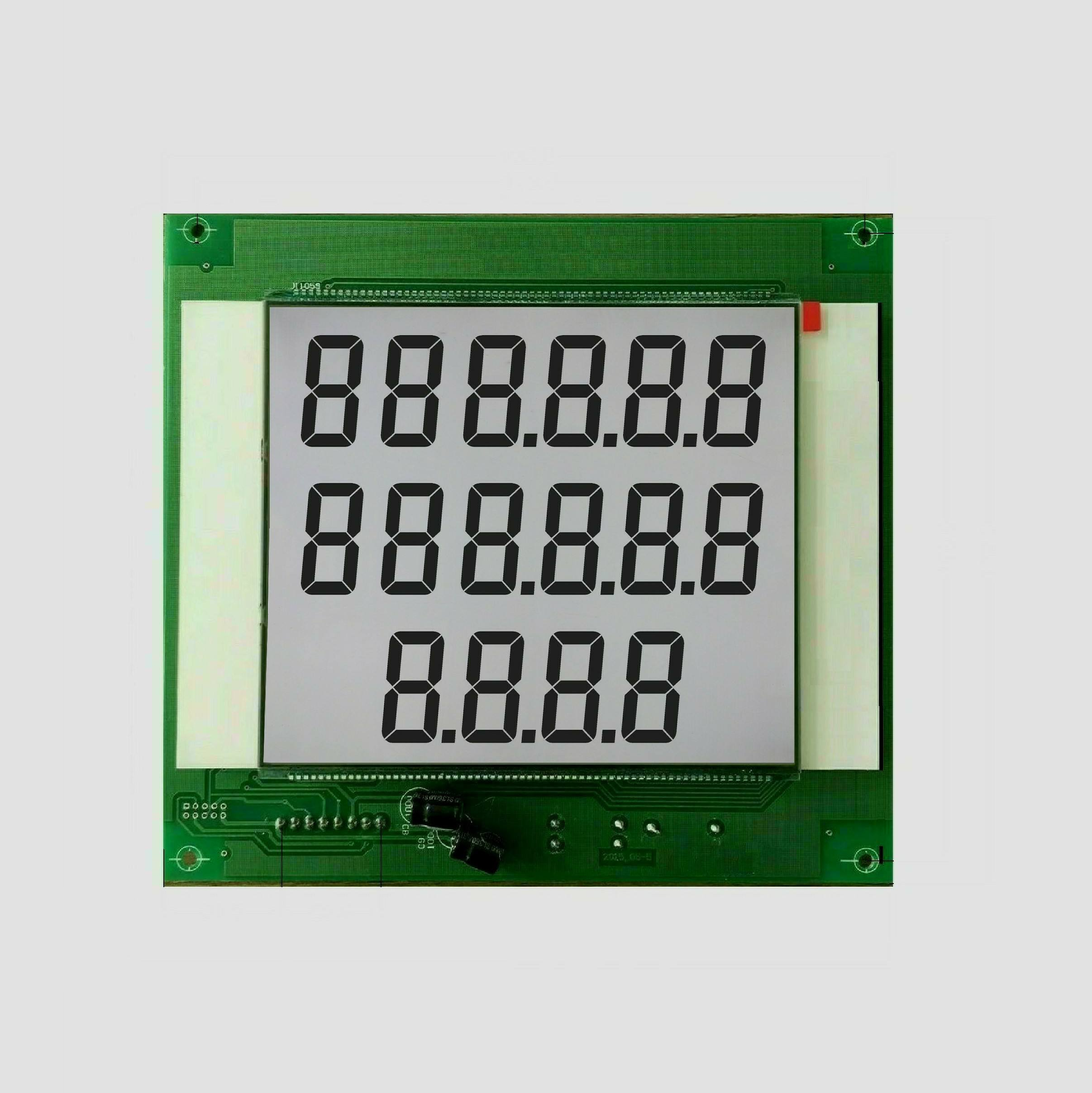 664 Display 16 Digits 7 Segment Pump Display White Led Backlight 6custom Digit Fuel Dispenser Lcd Module
