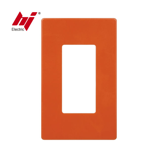 UL Approved Single Pole Wall Screwless Plate for Decorator Receptacle or Switch