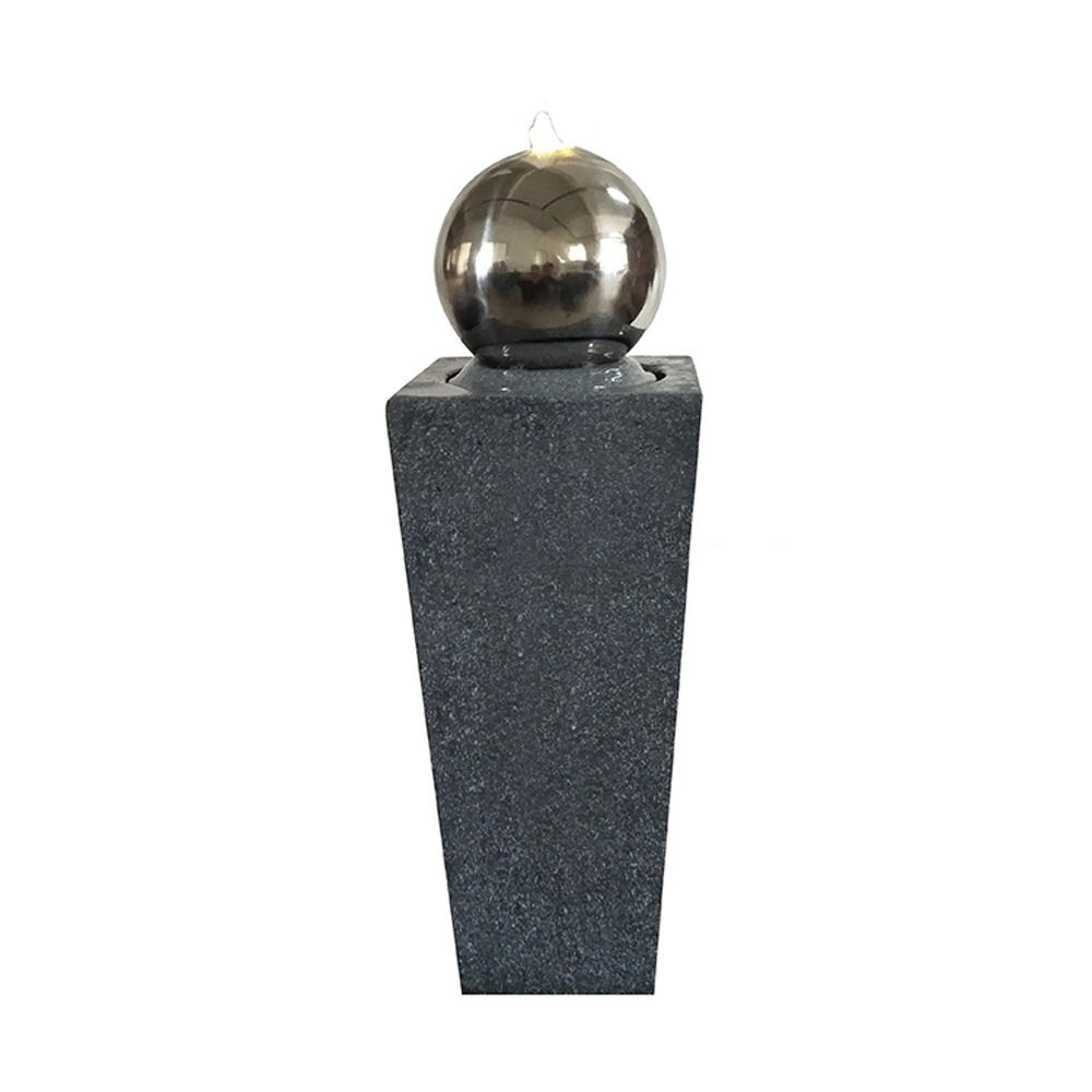 Home Feng Shui Steel Ball Fiberglass garden outdoor water Fountain water feature From China for sales