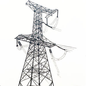 OEM Wholesale price angle steel Q235/355 hot dipped galvanized 33kv 132KV transmission line steel pole tower