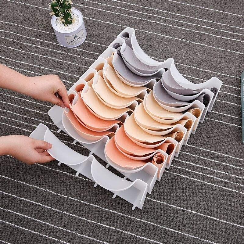 Plastic Organizer no deformation framed lady woman female girl bra underwear storage box