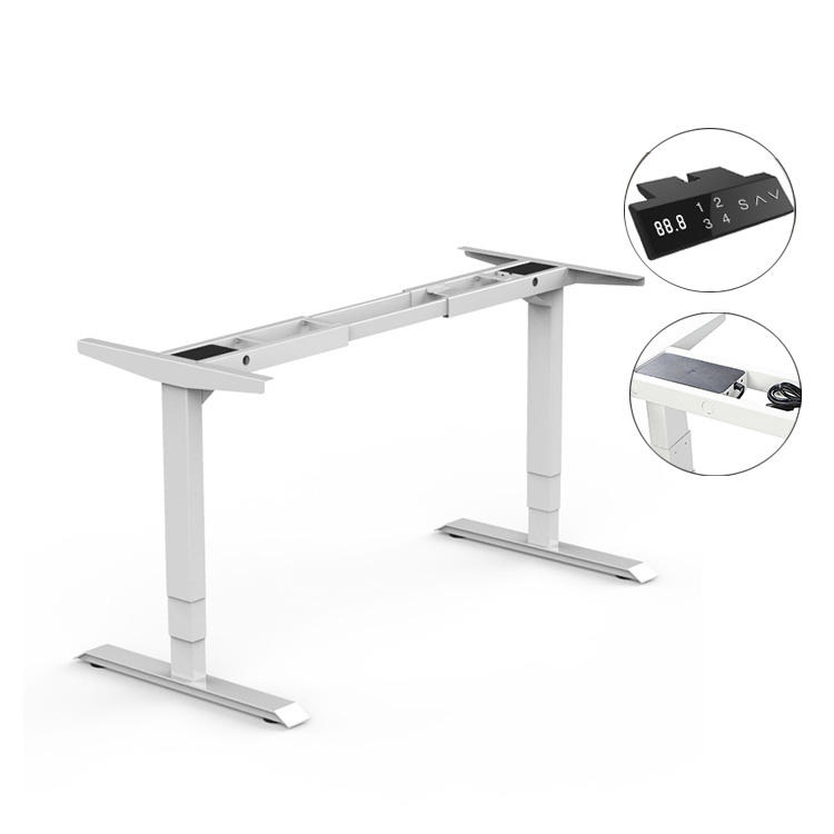 Adjustable Height Lifting Motorized Electric Standing Table Metal Office Desk Legs