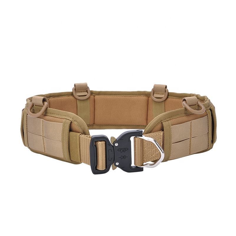 Tactical Waist Padded Nylon Webbing Molle Belt with Buckle for Army