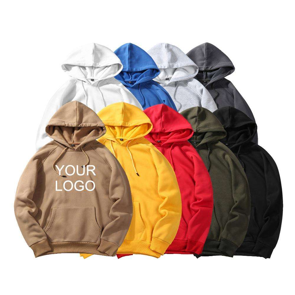 Fleece Blank Men Trendy Hoodie Custom Oversized Pullover Women's Hoody Fitted Pocket Hoodies Sweatshirts for women Print Logo