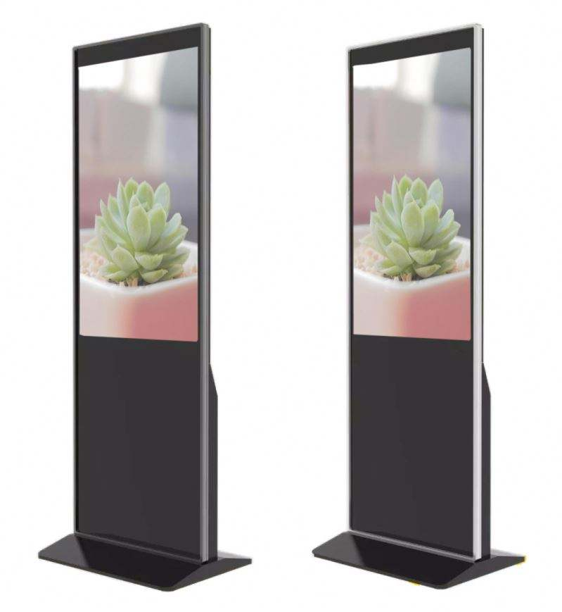 OEM 43 Inch Indoor WIFI 3G Floor Stand AD Pemain LCD Digital Signage