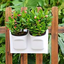 Wholesaler Products Wall Hanging Double Plastic Plant Pot