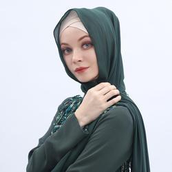 Georgette Plain Bubble Chiffon Hijab Muslim Tudung Woman Shawl face scarf