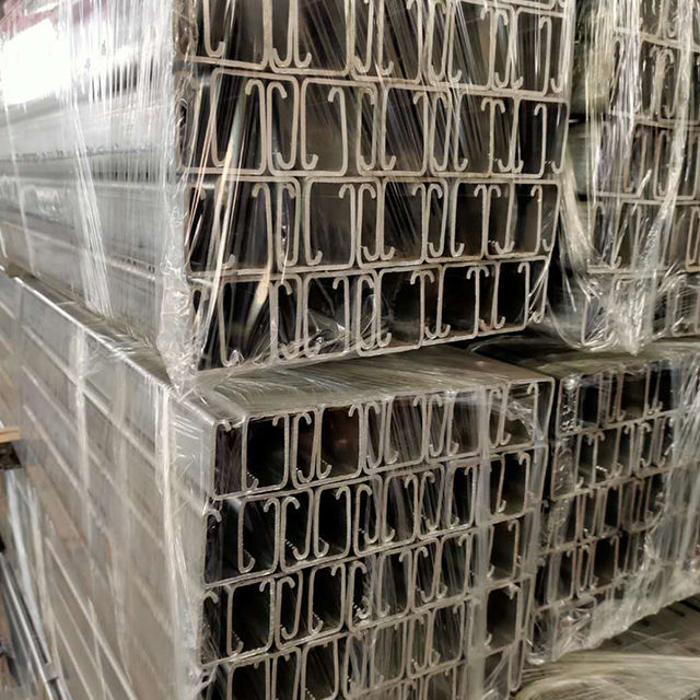 Cold Formed 304 stainless U Beam C Shape Z Type Rail steel Channel metal stud track Profilefor construction building