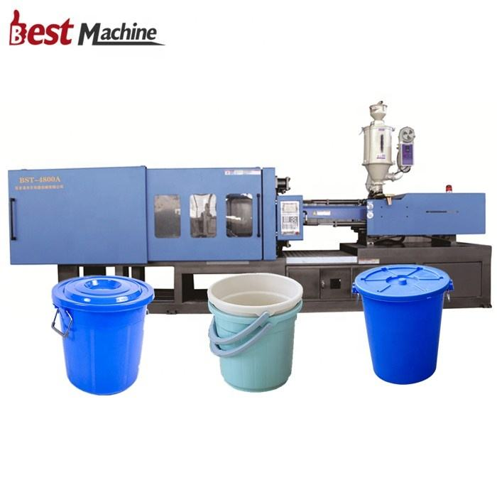 BST-4800A Good Price Servo Motor Automatic Plastic HDPE Water Bucket Making Machine / Injection Moulding Machine