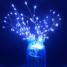 Fireworks Remote Control Battery Powered Lamp String lights For Garden Decoration Bouquet LED String Christmas Festival lamp