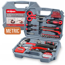 Hispec 49 Piece Hand Tools Kit  Home DIY Tool Set  included Socket Wrench and more Hand Tools / Free Shipping to USA Only