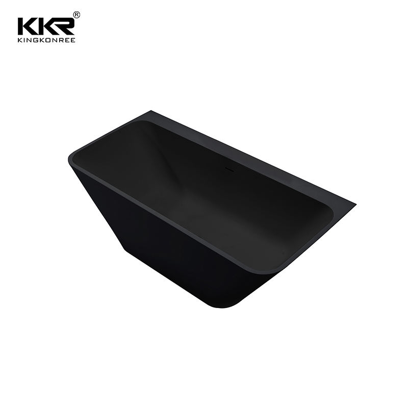 black color stain resistance artificial stone bathroom bathtub for babies