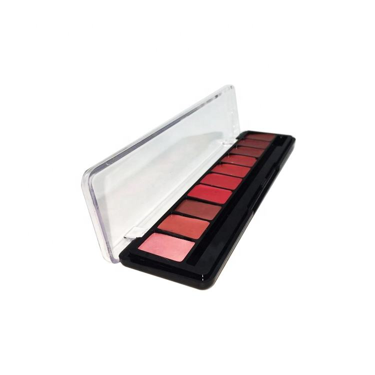 Professional lip makeup cosmetic nude lipstick palette red fashion color solid lipstick palette