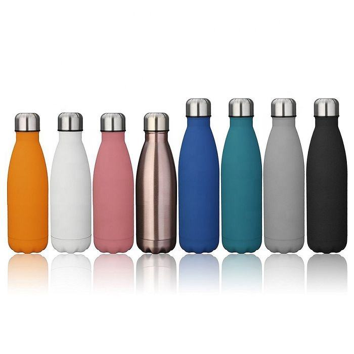 350ml 500ml 750ml Double Wall Vacuum Stainless steel Metal Drinking bottle