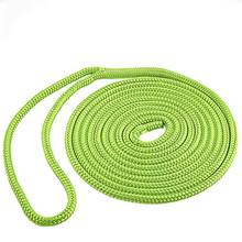 Double braided polyester ship bungee dock line marine rope